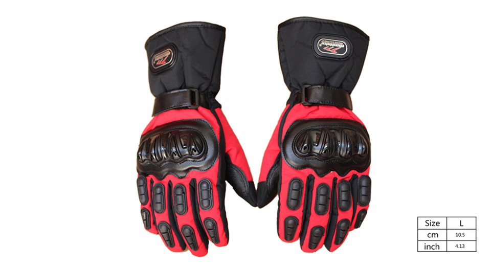 MAD-BIKE MAD-15 Motorcycle Racing Fleece Lined Full-Finger Warm Gloves (Size L/Pair)