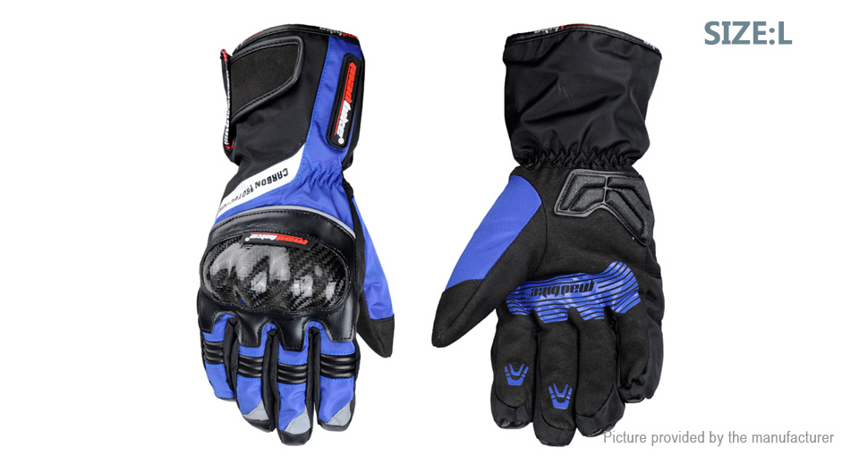 MAD-BIKE MAD-19 Winter Warm Motorcycle Racing Full-Finger Gloves (Size L/Pair)