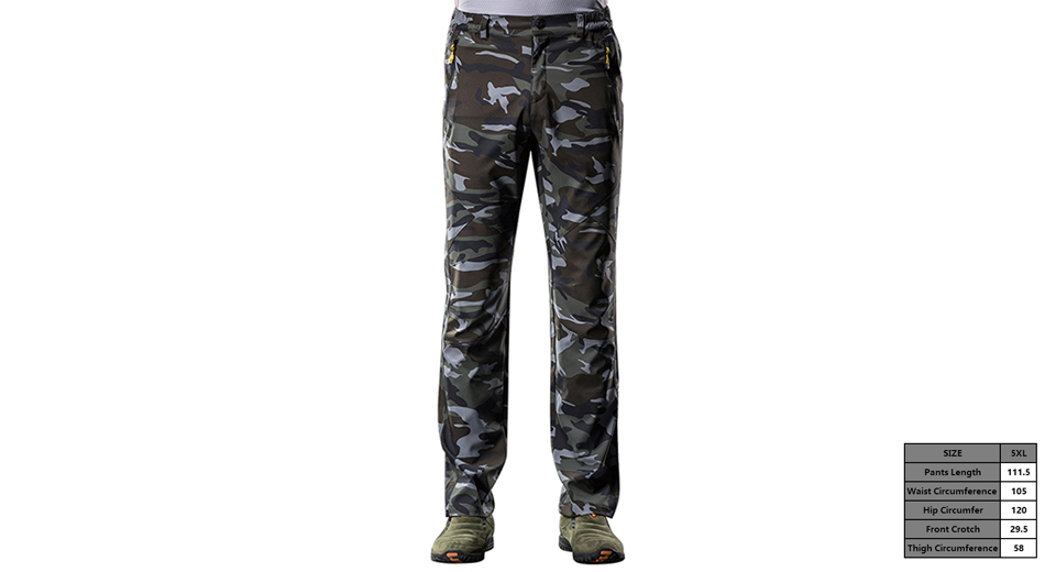 Men's Outdoor Sports Quick-drying Camouflage Casual Pants (Size 5XL)