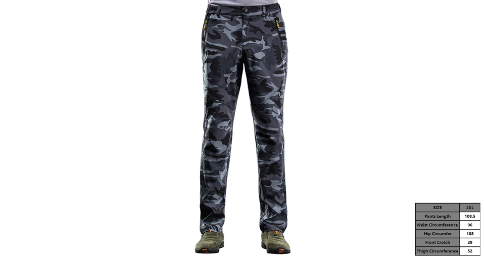 Men's Outdoor Sports Quick-drying Camouflage Casual Pants (Size 2XL)