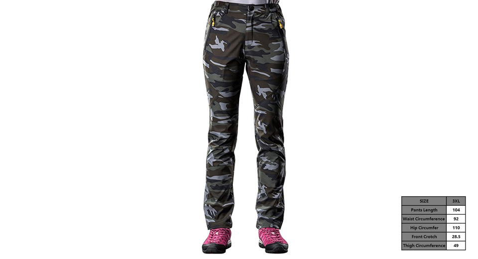 Women's Outdoor Sports Quick-drying Camouflage Casual Pants (Size 3XL)
