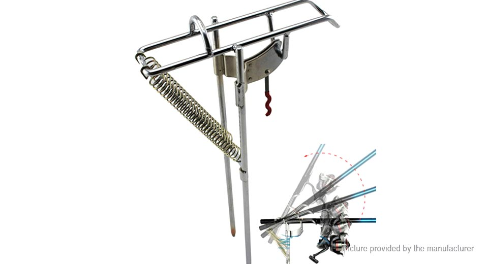Double Spring Fishing Rod Stand Support Bracket Fishing Tackle Tool