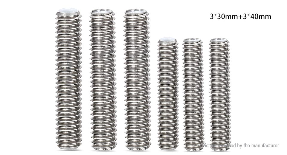 Authentic Anet MK8 Stainless Steel Nozzle Teflon Pipes (6-Pack)
