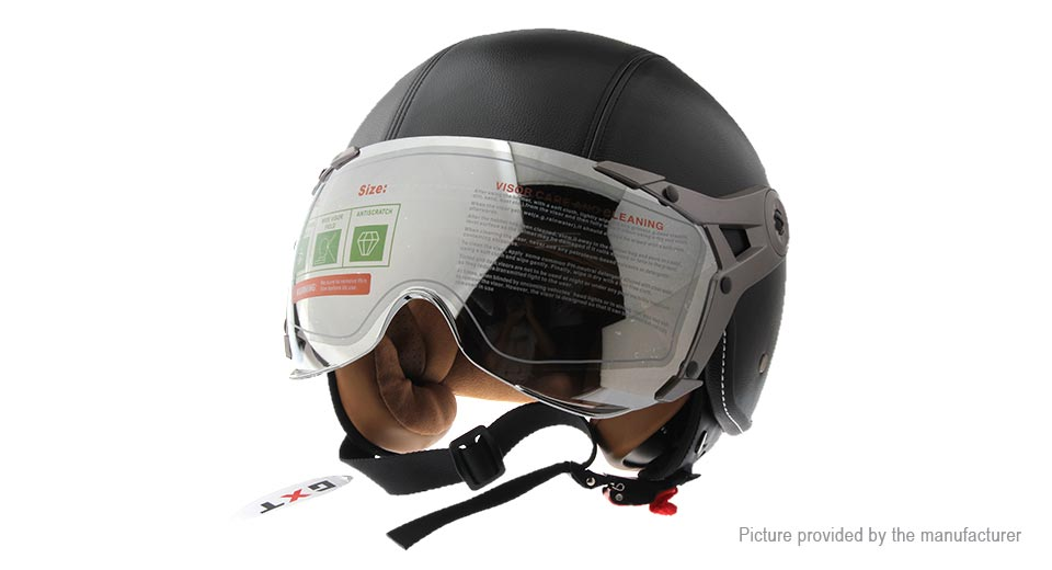 GXT G-288 Motorcycle Scooter Retro Half Helmet (Size L)