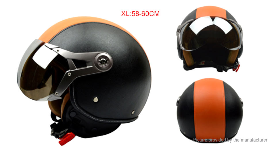 GXT G-288 Motorcycle Scooter Retro Half Helmet (Size XL)