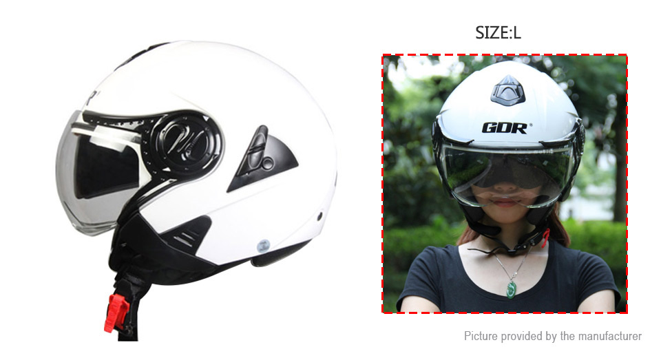 GDR 622 Motorcycle Scooter Retro Half Helmet (Size L)