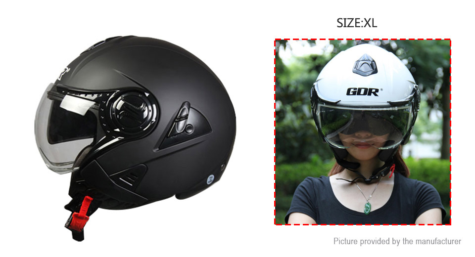 GDR 622 Motorcycle Scooter Retro Half Helmet (Size XL)