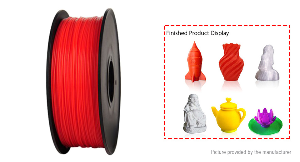 Anet DIY ABS 3D Printing Filament, 340m ABS, 340m, Red