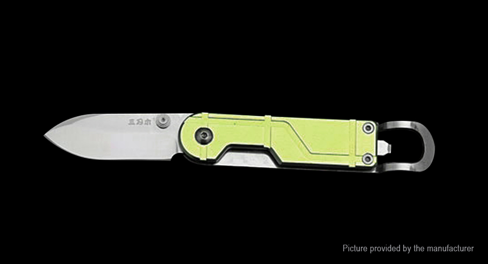 Authentic Sanrenmu 6027 Stainless Steel Folding knife 6027, Yellow (Style B)