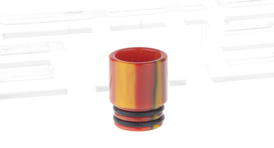 Epoxy Resin Wide Bore Drip Tip for The Council of Vapor Vengeance Clearomizer Red + Yellow