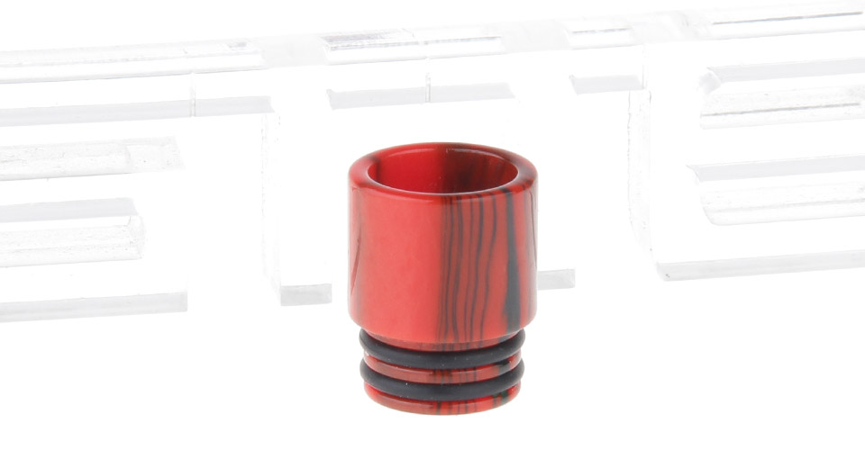 Epoxy Resin Wide Bore Drip Tip for The Council of Vapor Vengeance Clearomizer Red + Black