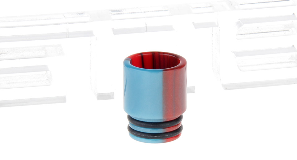 Epoxy Resin Wide Bore Drip Tip for The Council of Vapor Vengeance Clearomizer Red + Blue
