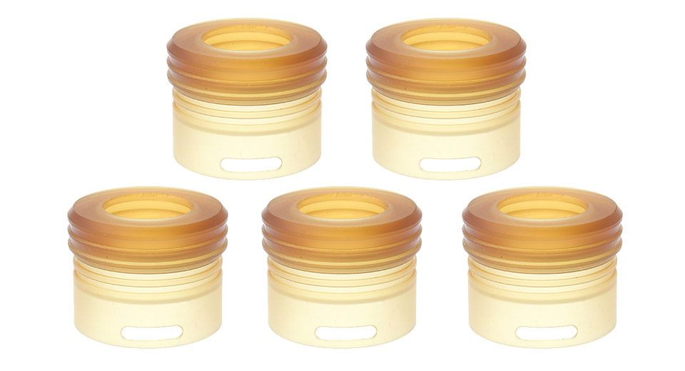 Replacement PEI Top Cap Tank for Kryten RDA Atomizer (5-Pack)