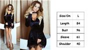 Buy Women's Sexy Lace Deep V Neck Mini Dress w/ Choker (Size L) Black, Size L for $14.53 in Fasttech store
