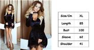 Buy Women's Sexy Lace Deep V Neck Mini Dress w/ Choker (Size XL) Black, Size XL for $14.53 in Fasttech store