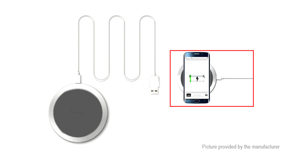 W6 Qi Inductive Wireless Charging Pad Charger Transmitter