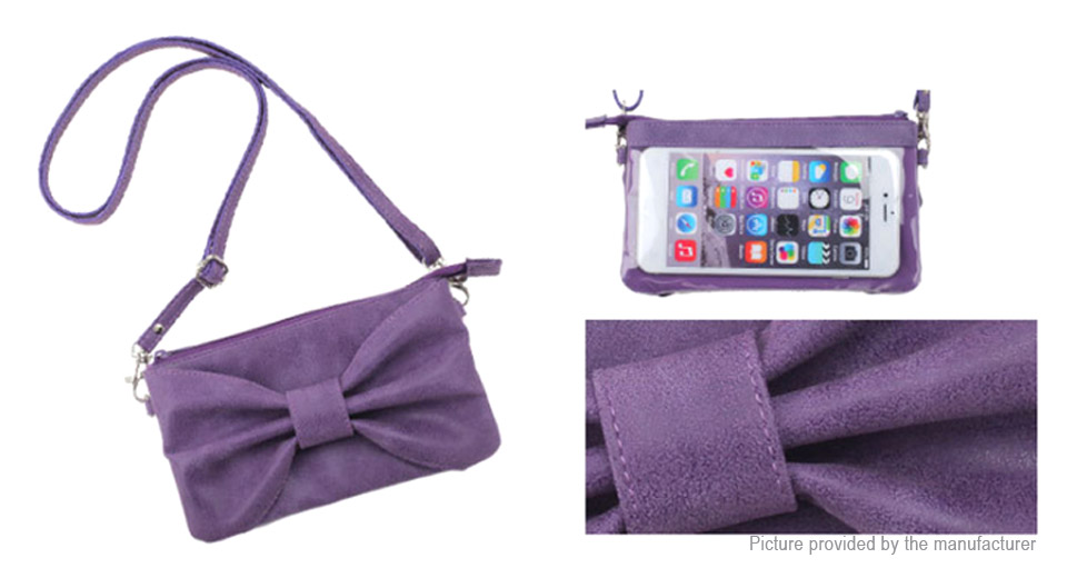 "Image of 5.5"" Universal PU Leather Bowknot Clutch Cell Phone Wallet Bag"
