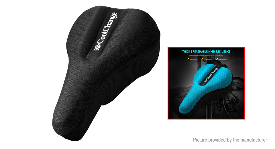 CoolChange 10016 Memory Foam 3D Bicycle Saddle Seat Cover Cushion