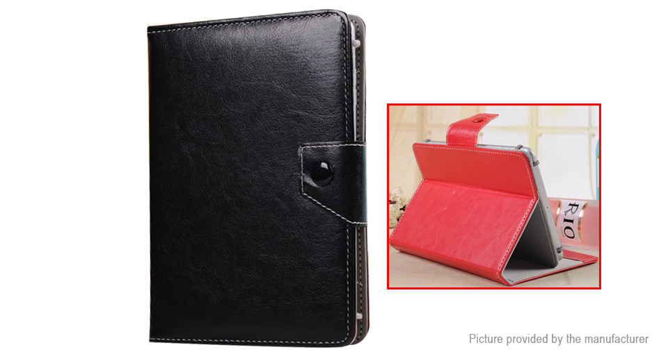 PU Leather Flip-Open Protective Case Stand for Q88 Tablet PC