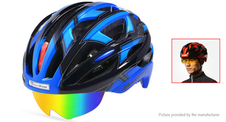 ROCKBROS Outdoor Bicycle Cycling Helmet w/ Goggles