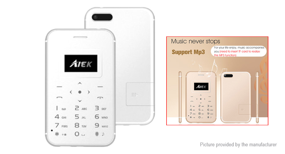 "Aiek X8 0.9"" Mini Card GSM Feature Phone"