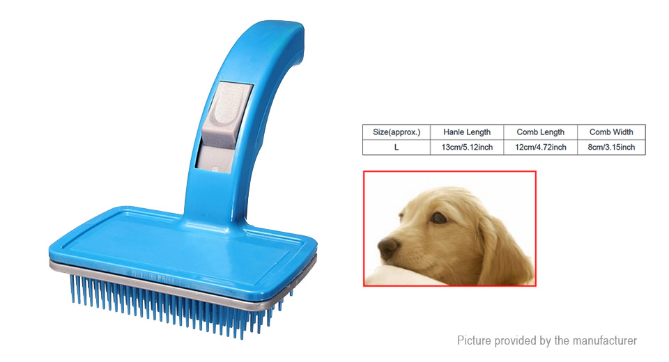 Pet Dog Cat Hair Fur Shedding Trimmer Grooming Rake Comb Brush (Size L)