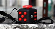 Buy Magic Fidget Cube Puzzle Anti-anxiety Stress Relief Focus Toy Style B, Black + Red (w/ lanyard)