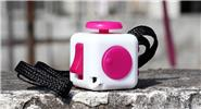 Buy Magic Fidget Cube Puzzle Anti-anxiety Stress Relief Focus Toy Style B, White + Rose Red (w/ lanyard)