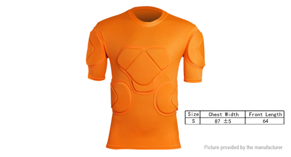 Football Soccer Paintball Goalkeeper Protective Short Sleeve T-Shirt (Size S)