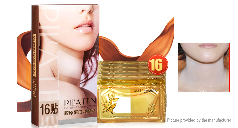 Pilaten Crystal Collagen Neck Mask (16-Pack)