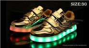 Buy Kids LED Light Wings Decorative PU Leather Shoes Sneakers (Size 30) Gold, Size 30