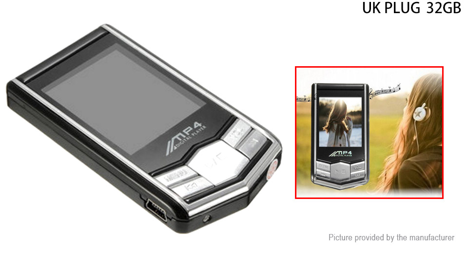 Image of 1.8'' LCD MP3 MP4 Music Media Player (32GB/UK)