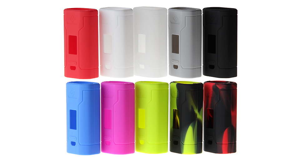 Protective Silicone Sleeve Case for Wismec Predator 228W Mod (10 Pieces) Predator 228W, Silicone, 10 Pieces, 10 Colors