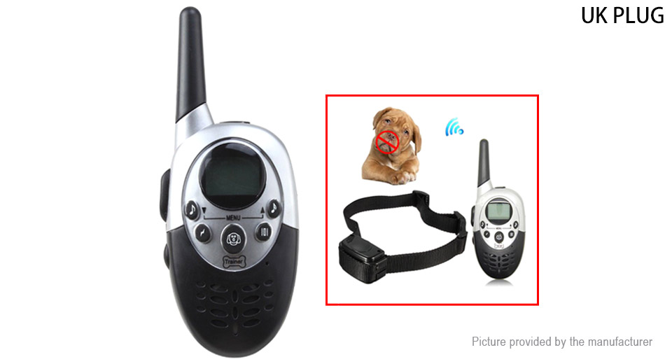 Remote Control Pet Dog Bark Control Training Shock Collar (UK)