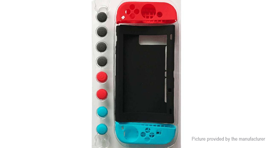 Image of 11-in-1 Protective Silicone Cover Case Set for Nintendo Switch NS Game Console