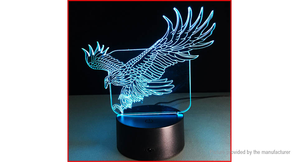 Flying Eagle Styled 3D Visual LED Night Lamp Atmosphere Light