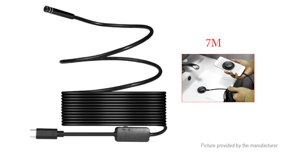 Image of 7mm 720p USB Type C Endoscope Borescope Inspection Camera (7m)