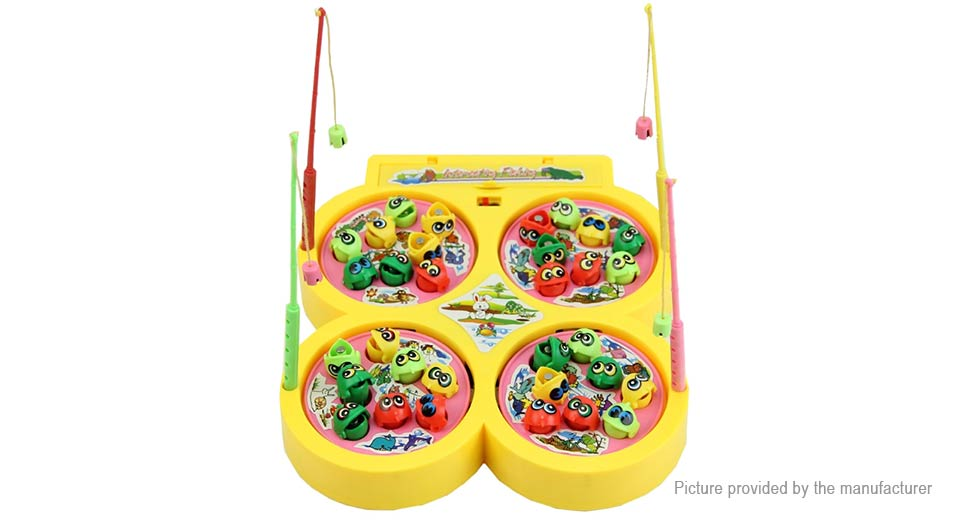 Go Fishing Game Toy Electric Rotating Fish Child Educational Toy