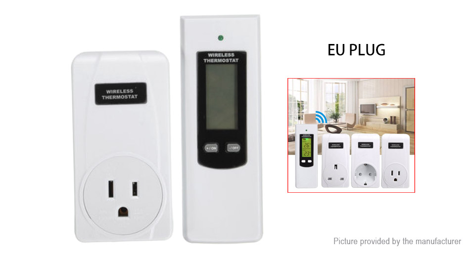 TS-808 LCD Wireless Temperature Controller Thermostat (US)