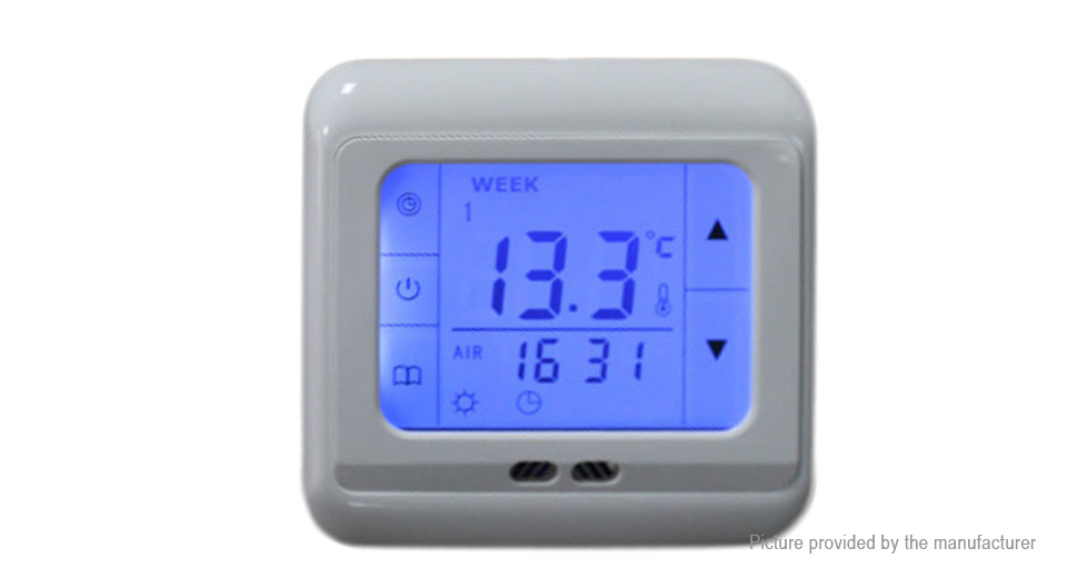 LCD Touch Screen Digital Programmable Underfloor Room Thermostat