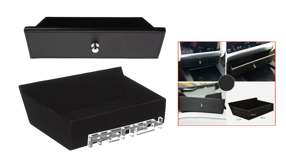 Cubby Compartment Center Storage Drawer for Tesla Model X / Model S