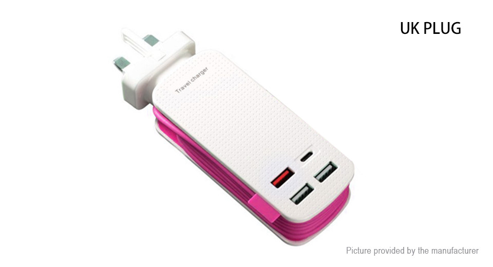 4-Port USB Travel Charger Power Adapter (UK)