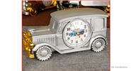 Buy Multifunctional Vintage Car Styled Alarm Clock Pencil Vase Home Decor Styled, Silver