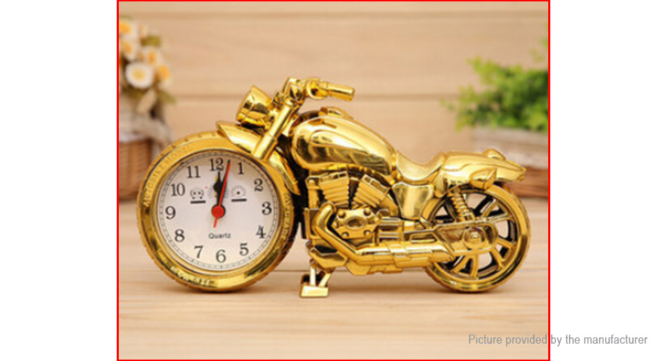 Multifunctional Motorcycle Styled Alarm Clock Home Decor