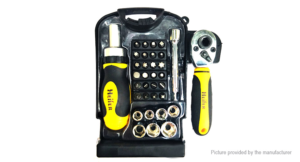 Stubby Ratchet Wrench Repair Tools Kit (34-Piece Set)