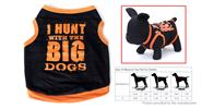Hunt Big Dogs Print Small Boy Dogs Summer Shirt (Size S) Size S