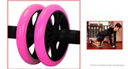 Buy Dual Wheel Abdominal Exercise Roller Fitness Body Strength Training Machine Pink