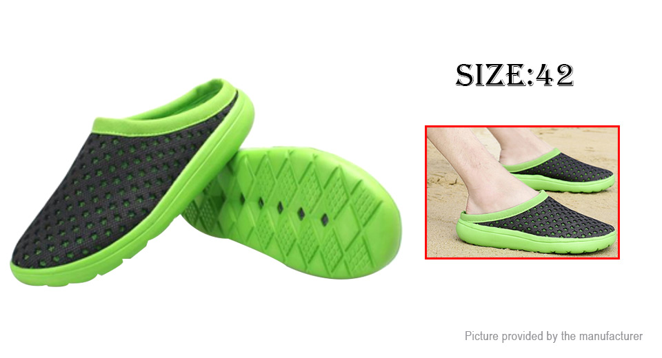 Men's Breathable Hollow Out Casual Beach Slippers Mesh Sandals (Size 42)