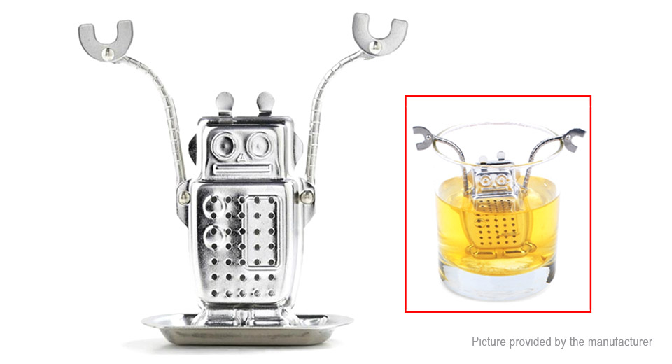 Robot Styled Stainless Steel Tea Infuser Strainer, Robot Styled, Silver