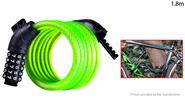 Buy WHEEL UP MTB Bicycle Anti-theft Safety Cable Lock Chain (1.8m) 1.8m, Password Lock, Green